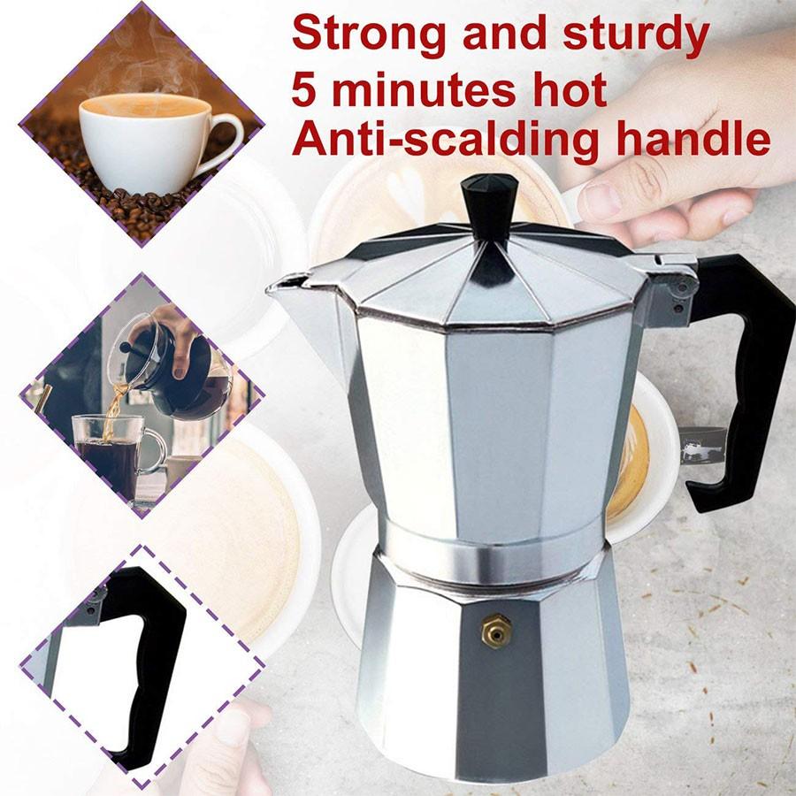 กาต้มกาแฟสด เครื่องชงกาแฟสด เครื่องทำกาแฟ หม้อต้มกาแฟสด เครื่องชงกาแฟเอสเพรสโซ่ แบบปิคนิคพกพา coffee pot mini_house11