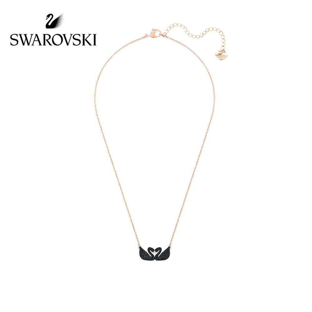 Β❅SwarovskiระดับสูงสุดSwarovski หงส์ดำ Iconic Swan สร้อยคอเสน่ห์อันสูงส่งสำหรับสาวๆ