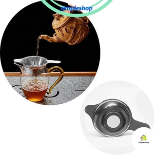 Review ❀SIMPLE❀ New Tea Strainer Leaf Fine Mesh Stainless Steel Kitchen Home Kungfu Teaware Funnel Filter