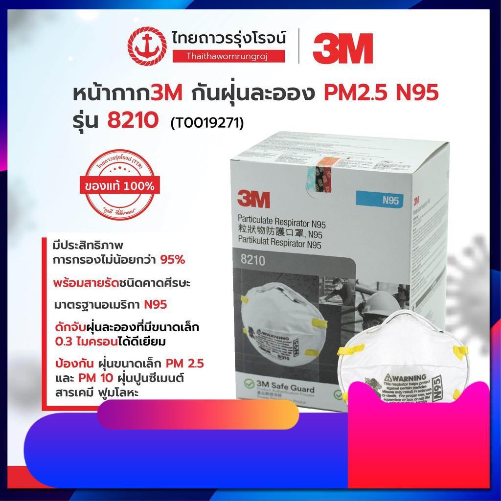 ♥♥♥ 3M หน้ากากกันฝุ่น คาดศรีษะ VFLEX N95 รุ่น  9105, 8210, 8210V, 9001