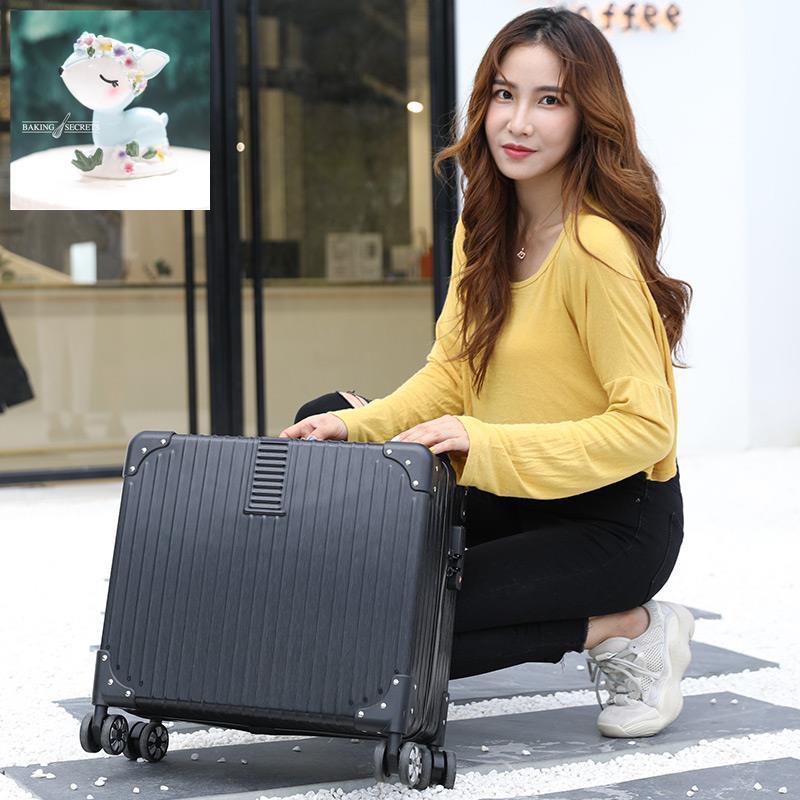 กระเป๋าเดินทางขนาดเล็ก 18 นิ้วกระเป๋าเดินทางขนาดเล็ก 16 ใบกระเป๋าเดินทางล้อลากชายและหญิงเวอร์ชันเกาหลีของ retro mini pa