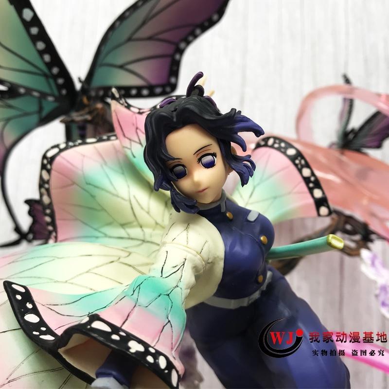 demon slayer❉☞Demon Slayer Blade GK Rubik s Cube Butterfly Ninja Figure Worm Pillar Statue Model Decoration อะนิเมะสองมิ