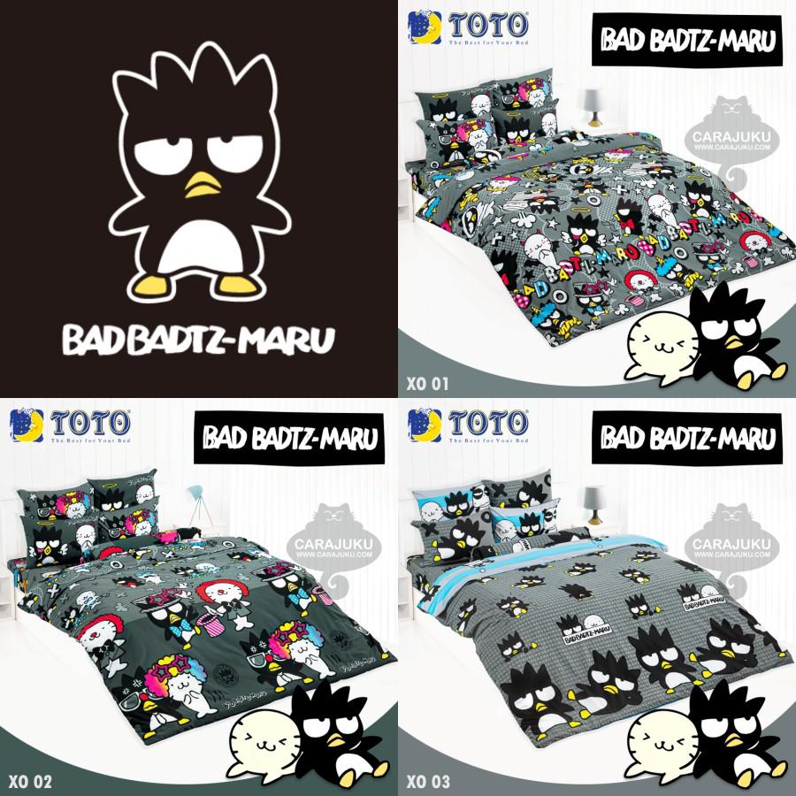 [3 ลาย] TOTO ชุดผ้าปูที่นอน แบดแบดมารุ Bad Badtz Maru ลิขสิทธิ์แท้ #รวม Bad Badtz Maru