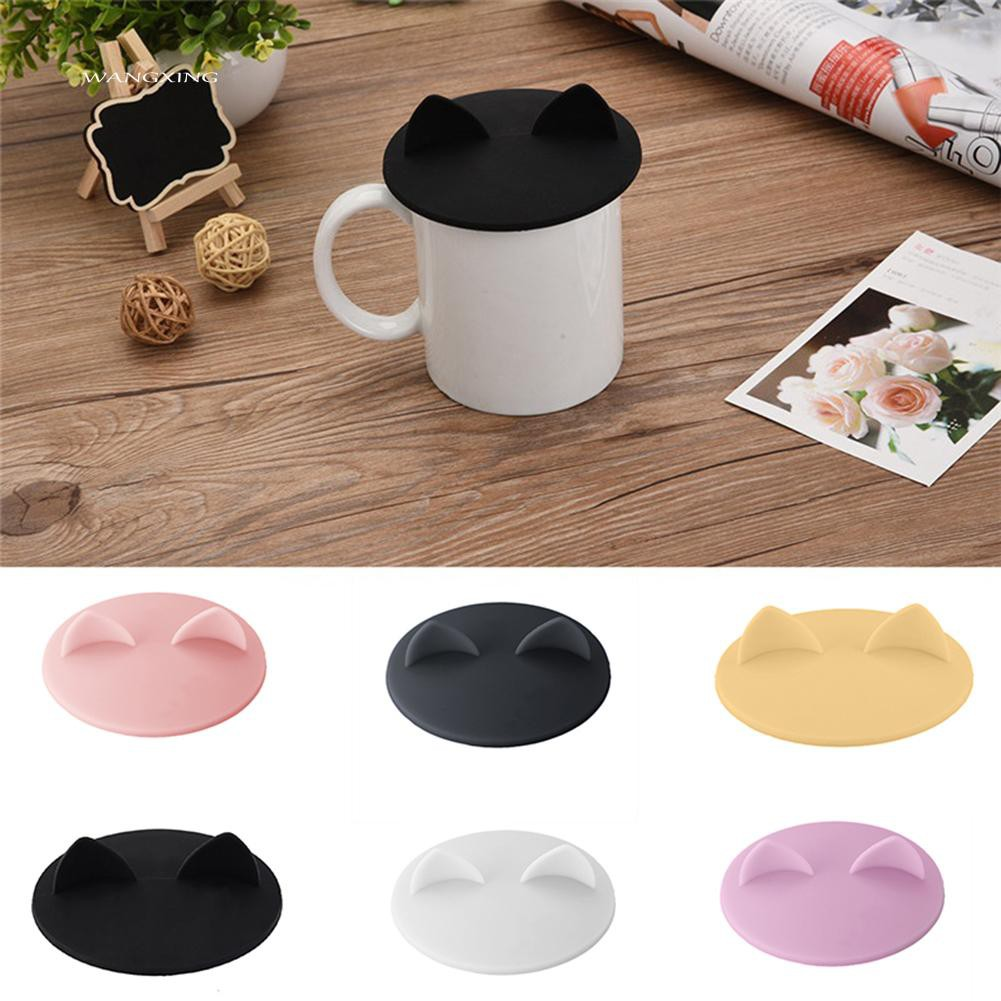 ❤Ready❤Cute Animal Anti-dust Silicone Glass Cup Cover Coffee Seal Lid Cap | Shopee Thailand