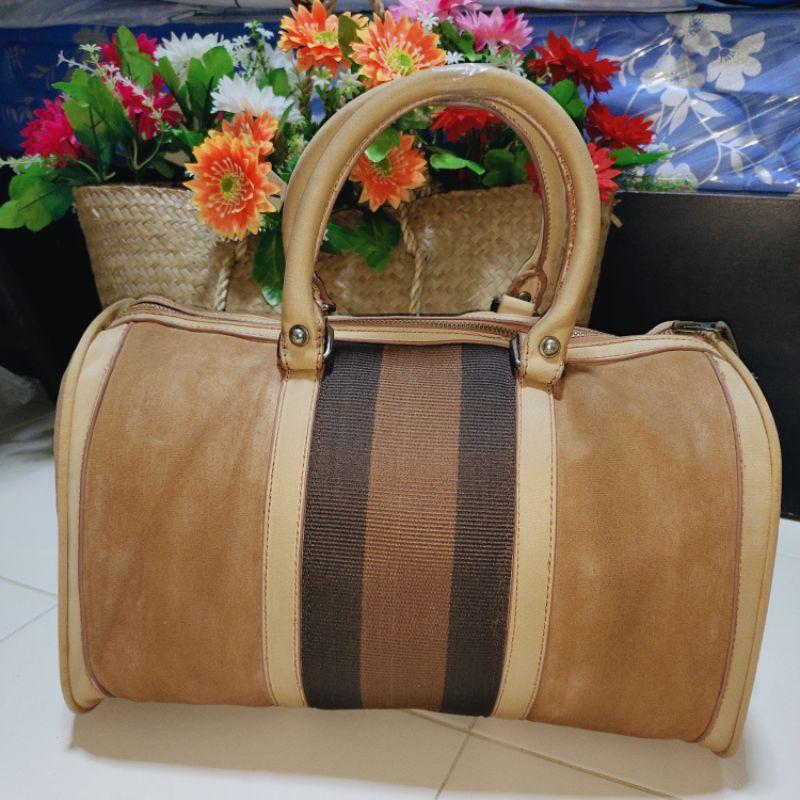 ⚡(แม่เสือ)⚡กว้าง 14 นิ้ว® กระเป๋าถือ ทรงหมอน กระเป๋าเดินทาง กระเป๋าผ้ากุชชี่