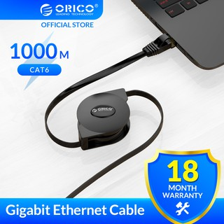 ORICO CAT6 Ethernet Cable Portable Retractable Ethernet LAN Internet Network Cable for Laptop Router Network Cables 1000Mbps 2M(PUG-LGC6)