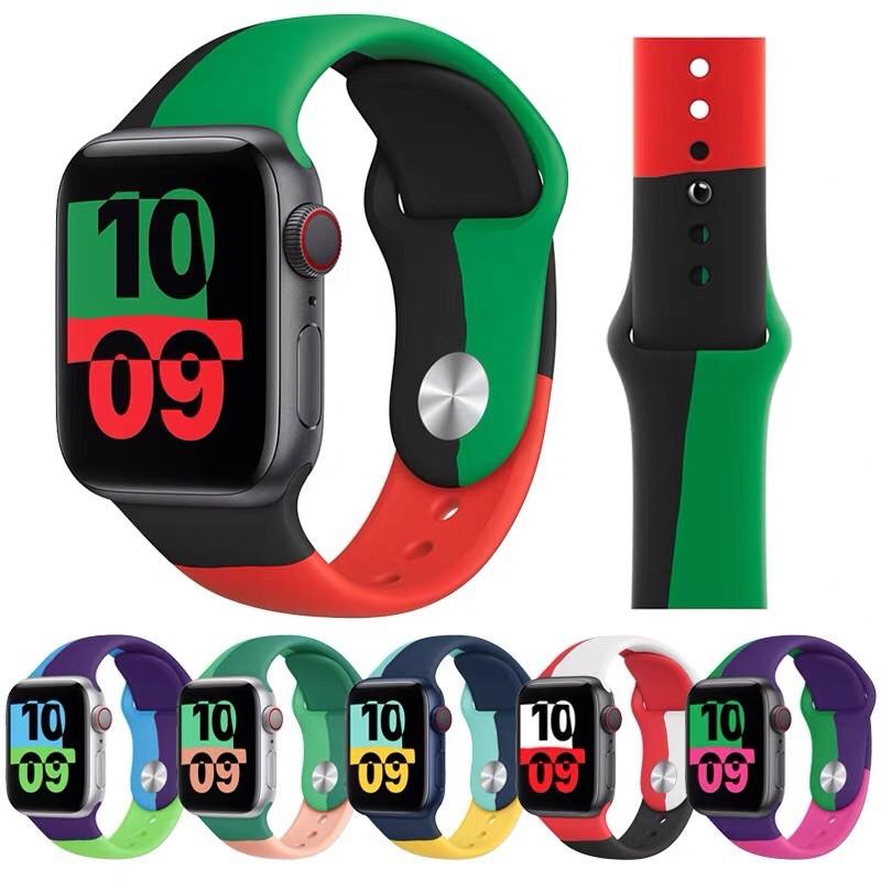 เข้าใหม่ พร้อมส่งในไทยค่ะ black unity สาย applewatch สายนาฬิกาข้อมือ ซิลิโคน apple watch series 6 SE 5 4 3 2 1