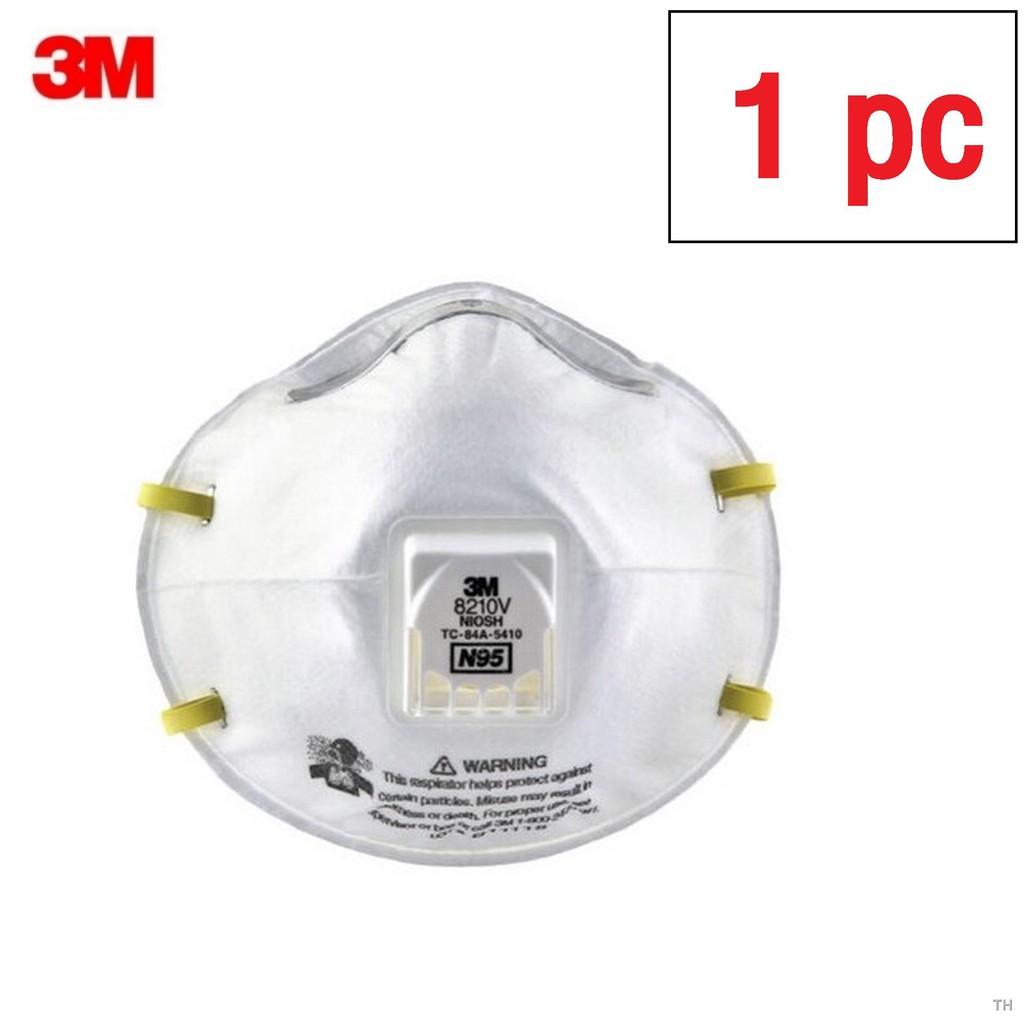 🧀✌☋3M 8210V N95 ชนิดมีวาล์ว (1ชิ้น) หน้ากากป้องกันฝุ่น Valved PM2.5 8210 (เอ็น95)