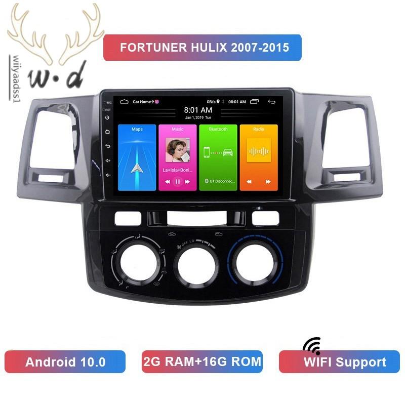 เครื่องเล่น Mp5 ในรถยนต์ 2 Din Android 10 . 0 2 + 16 Gb Wifi Gps สําหรับ Toyota Fortuner Hulix 2007-2015
