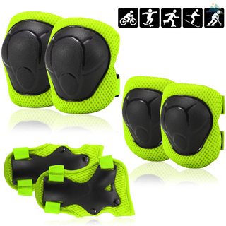 Kids Knee Pads Set 6 in 1 Protective Gear Kit Knee Elbow Pads with Wrist Guards Children Safety Protection Pads for Rollerblading Cycling Skating