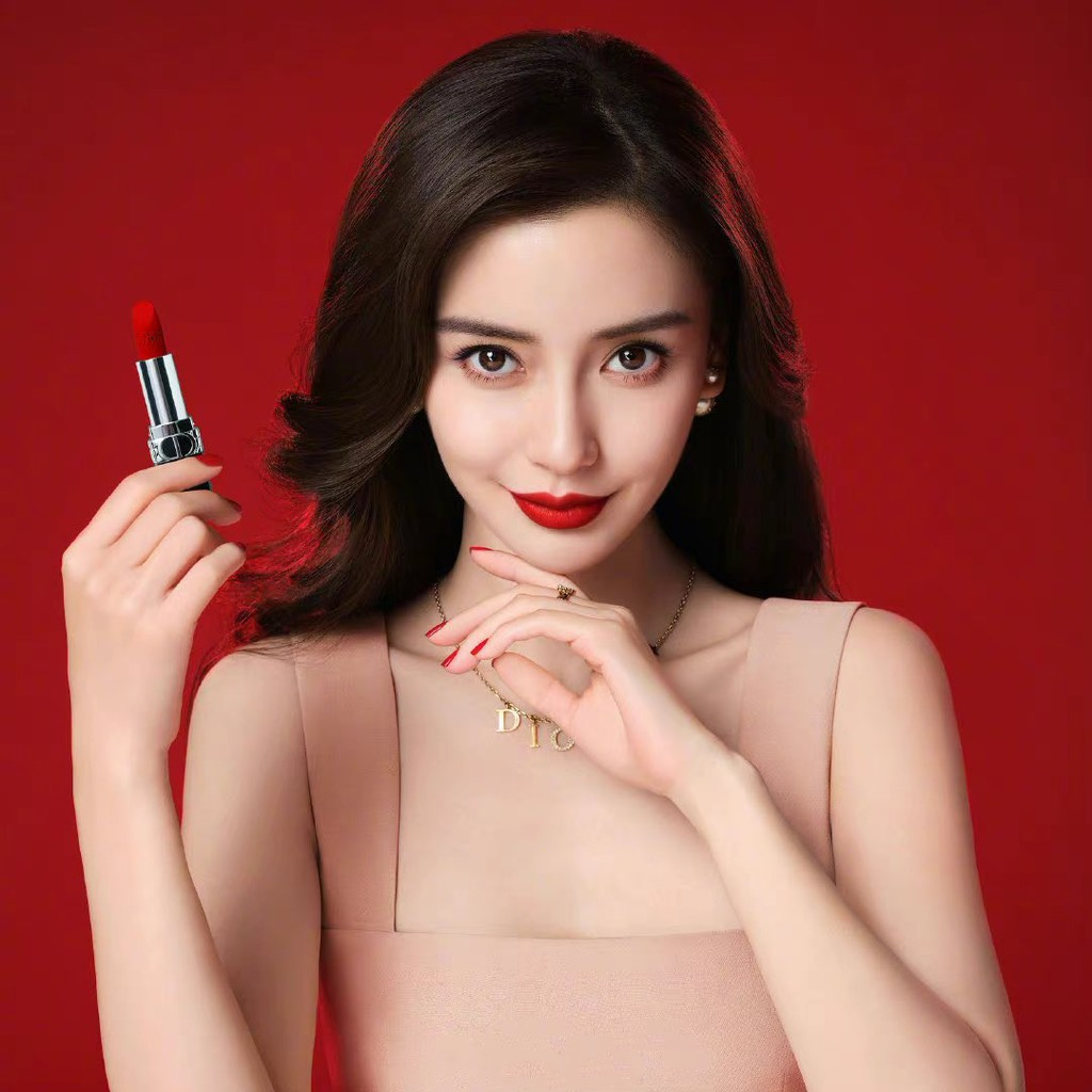 ลิปสติก DIOR Rouge Dior Velvet Matte Couture Colour Lipstick ลิปดิออร์ dior 999 ขนาดจริง พร้อมกล่องและถุงแบรนด์ แถมน้ำหอ