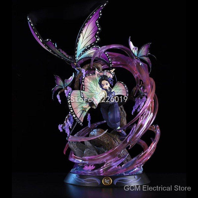 36cm Kimetsu No Yaiba Action Figure GK Kochou Shinobu Anime Figure Demon Slayer Kochou Shinobu Kamado Nezuko Figurine Model Toys