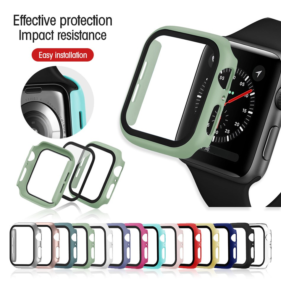 【Ready Stock 】 For Apple watch case  44mm 40mm 42mm 38mm watch series apple watch 6 SE 5  4 3 2 1  bumper protective shell frame