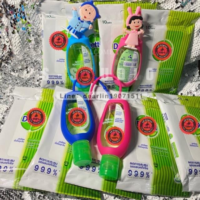 น่ารักมาก เจลล้างมือห้อยกระเป๋า ผ้าเช็ดทำความสะอาดผิวเปียก แอนตี้แบคทีเรีย