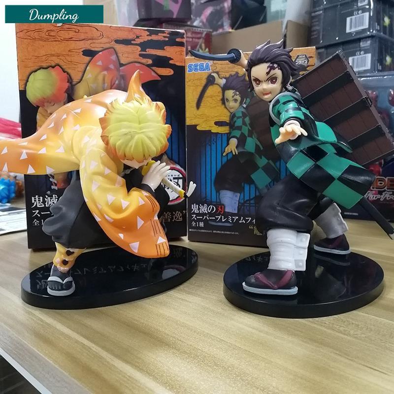 >>🔥ถูกและดีAnime Demon Slayer Kimetsu No Yaiba Tanjiro Zenitsu PVC Figure Collectible Model Dolls Kid Toy