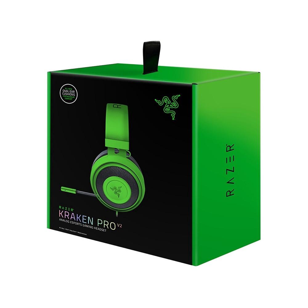 Razer Kraken Pro V2 Analog Gaming Headset for PC//Xbox One//PS4 Green Oval