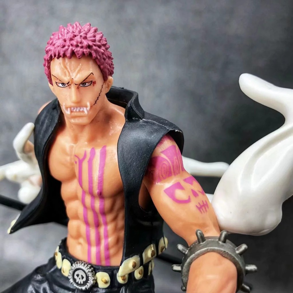 Anime One iece .O. Charlotte Katakuri Action figure Model Toys 18cm