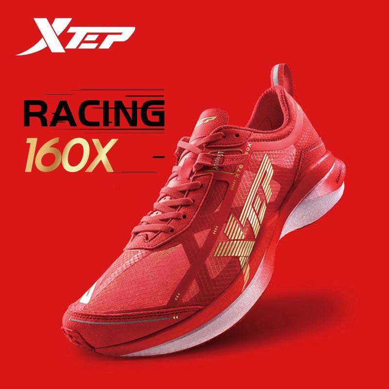 Xtep Racing 160X 1.0 รองเท้าวิ่งมาราธอน ผ้าใบคาร์บอนไฟเบอร์ แบบมืออาชีพ สำหรับผู้ชาย