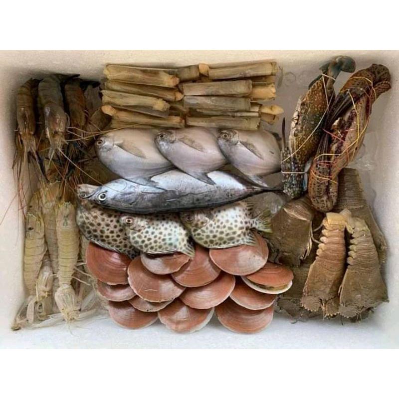กล่องสุ่ม อาหารทะเลสด ส๊ด สด ขนาดคุ้ม กล่องบิ๊กๆฮาลาล ยกทะเลมาไว้หน้าบ้าน ส่งฟรี