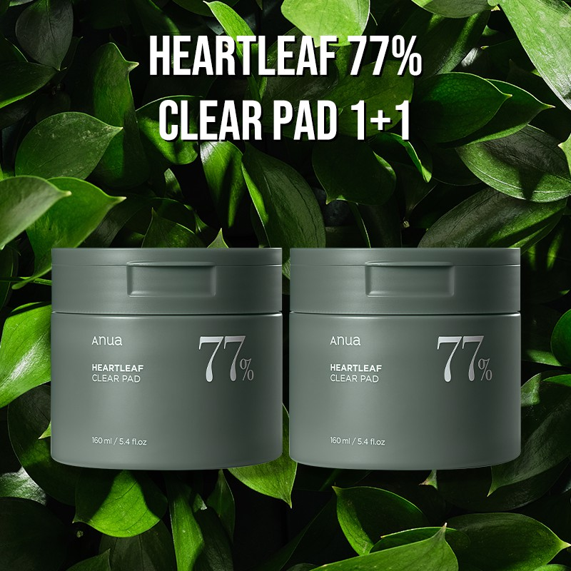 [Anua] Heartleaf 77% Clear Pad SET (Toner Pad) 1+1
