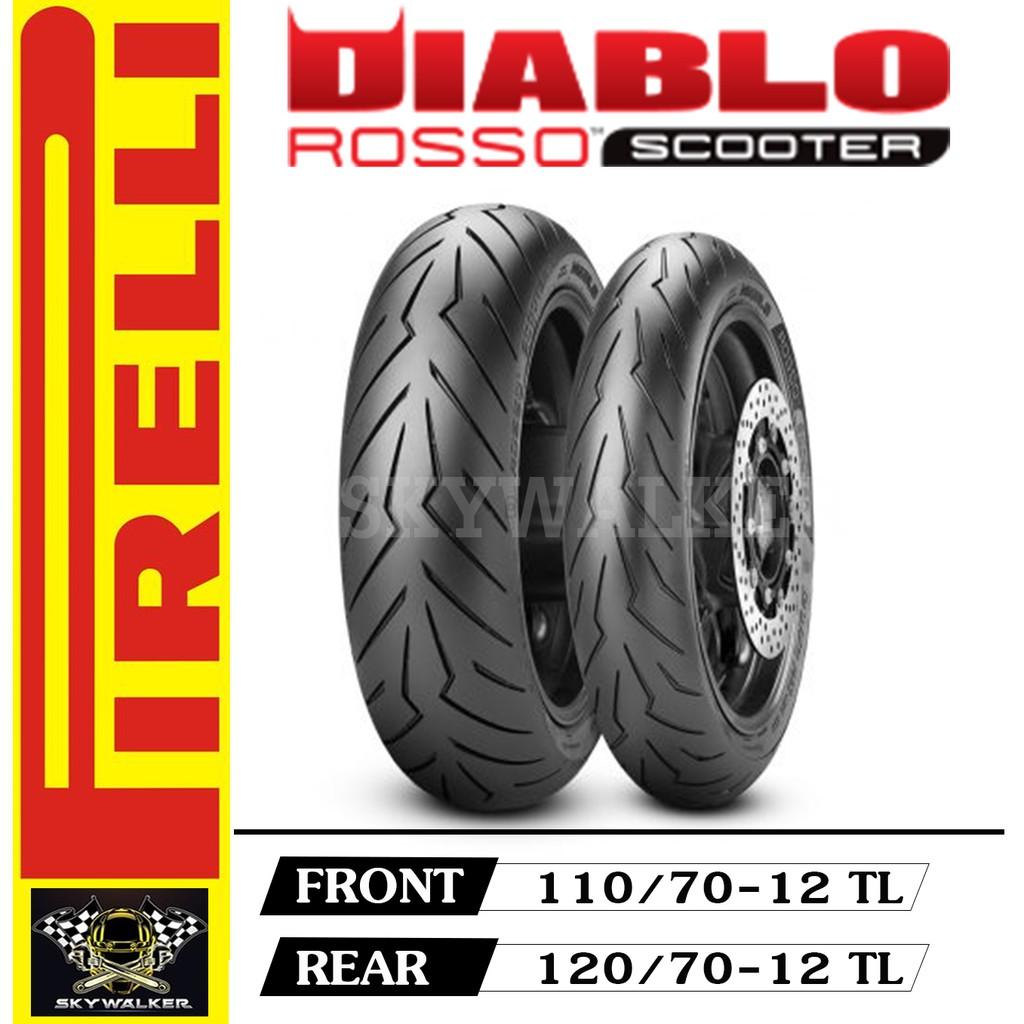 Pirelli DIABLO ROSSO SCOOTER : 110/70-12+120/70-12