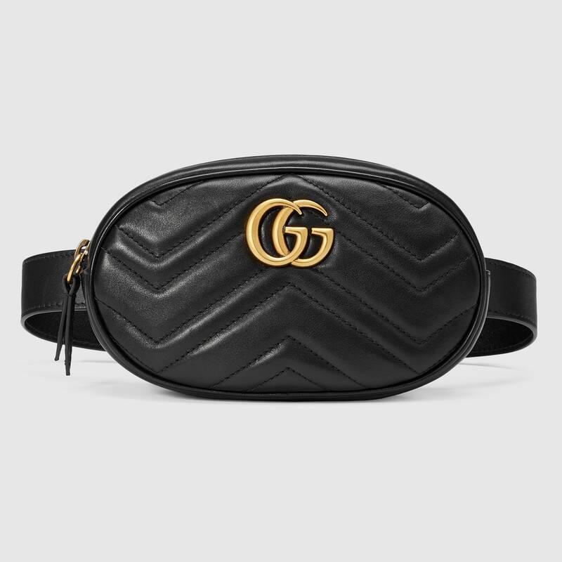 Gucci / GG Marmont series / quilted leather belt bag