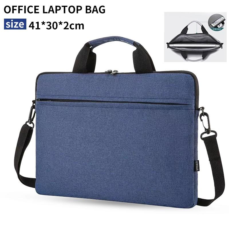 สินค้าพร้อมส่ง!!! กระเป๋าใส่คอมพิวเตอร์โน๊ตบุ๊คหนัง PU ขนาด 14-15.6 นิ้วเดินทางสะดวกกระเป๋าเอกสารธุรกิจ
