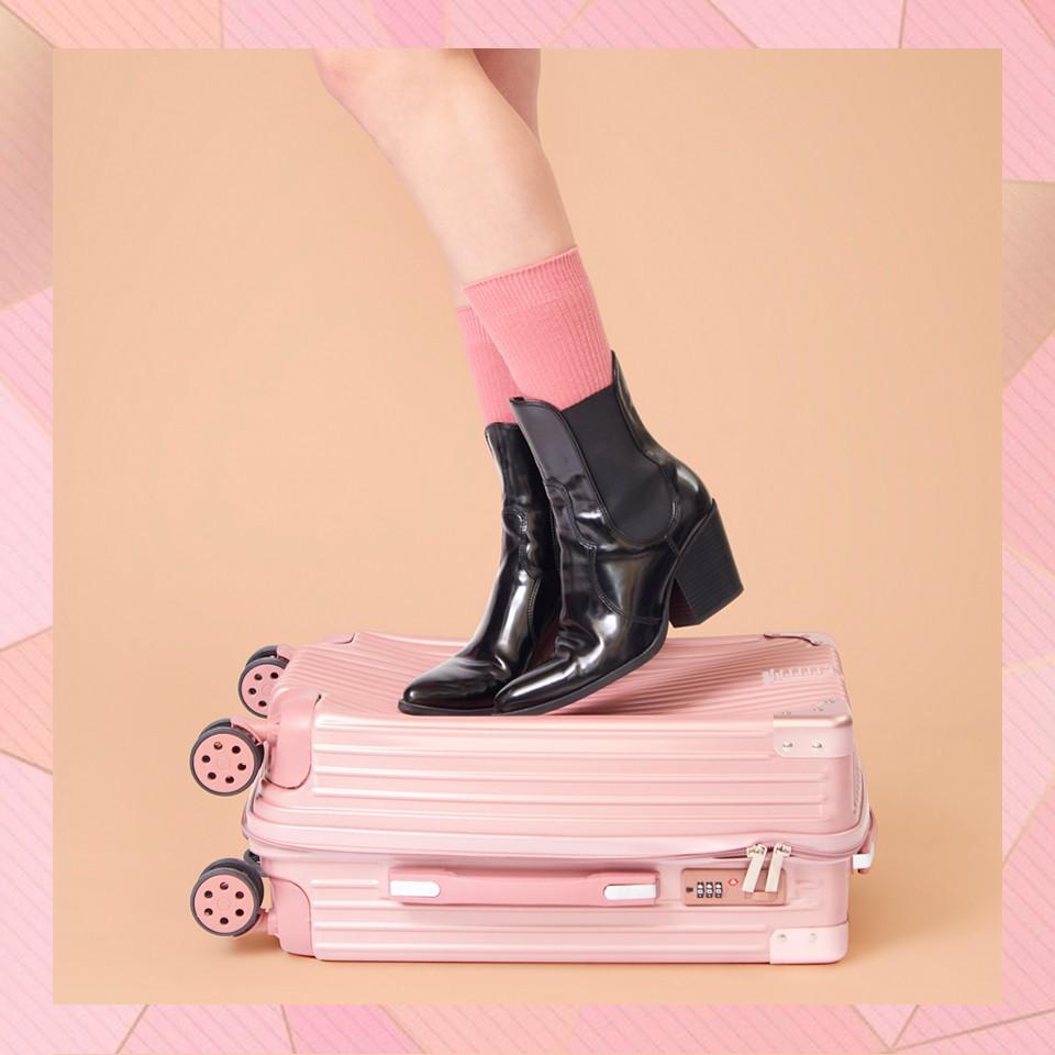 [ฟรีผ้าคลุมกระเป๋า] Maisy Daisy (V14) กระเป๋าเดินทาง ล้อลาก วัสดุ ABS+PC 20 / 24 นิ้ว แข็งแรง ทนทาน Stylish gbzO