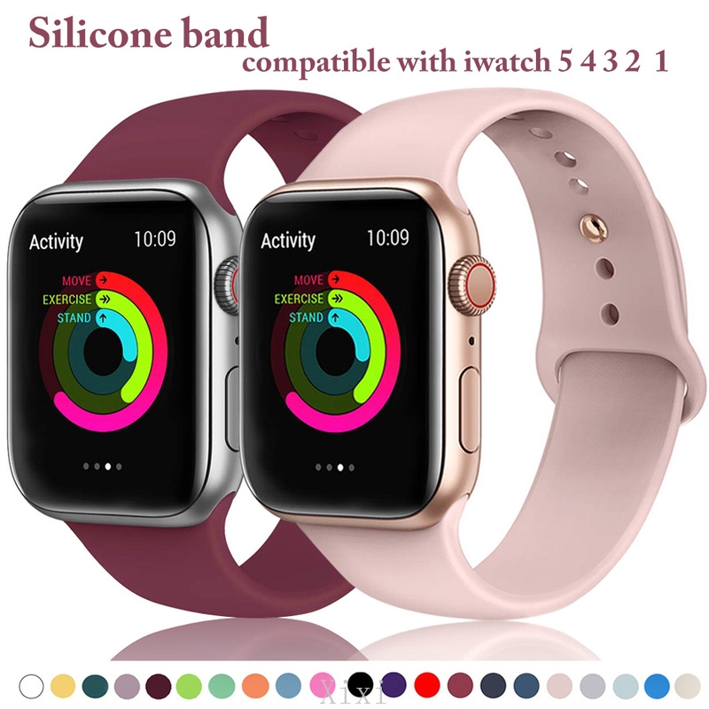 Apple Watch Band Apple Series 5 4 3 2 1 Silicone Strap 38mm 40mm 42mm 44mm( Sport Strap )