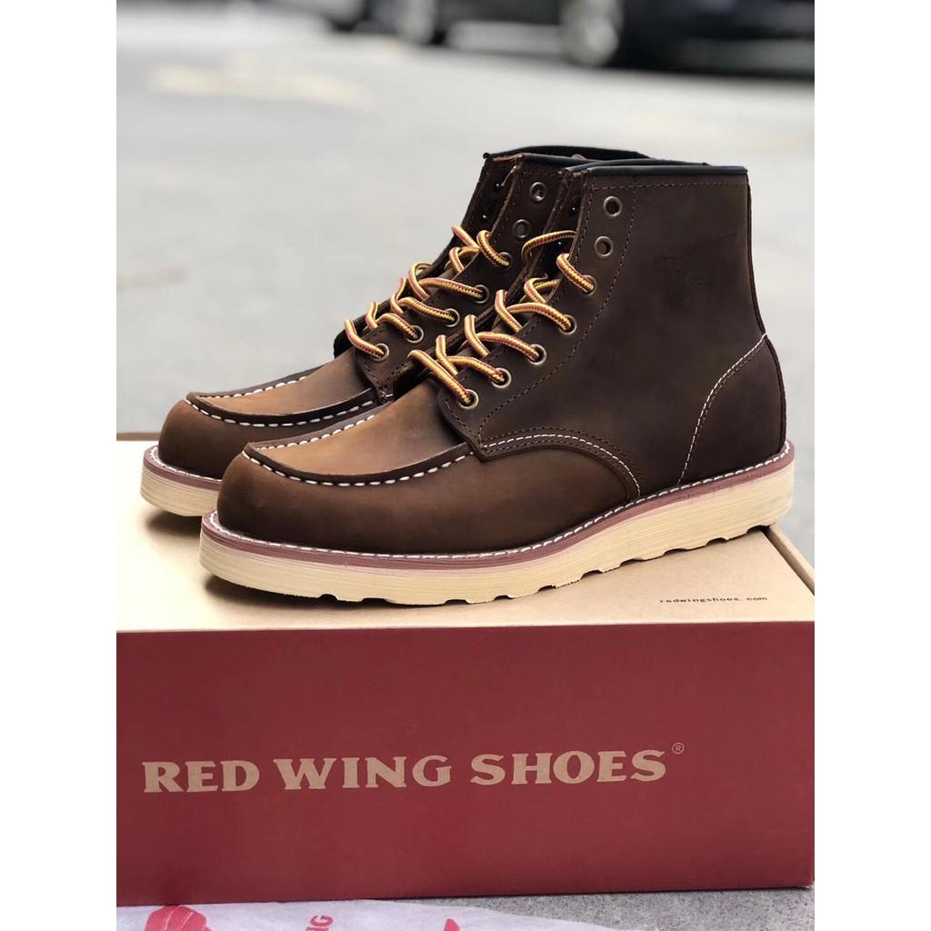 RED WING 875ชุด ผู้ชาย รองเท้าทำงาน สไตล์คลาสสิก รองเท้าบูทมาร์ติน