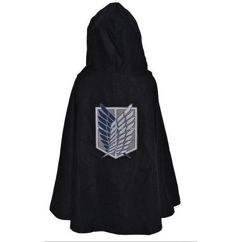 เสื้อคลุม อนิเมะ Attack on Titan ผ่าพิภพไททัน ขนาดฟรีไซซ์ สำหรับผู้ชาย และผู้หญิง