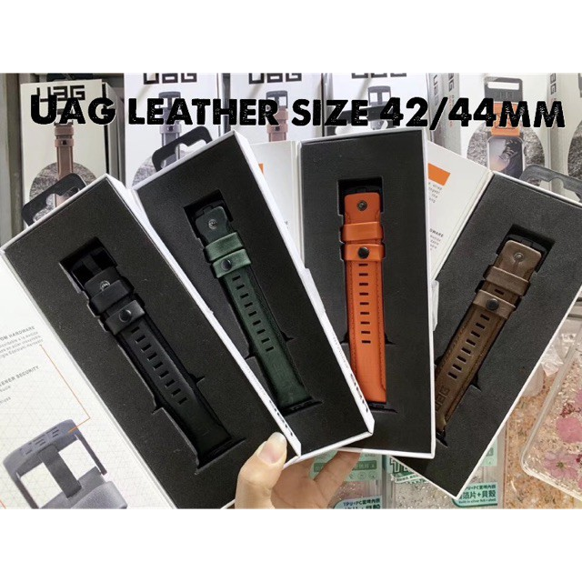∈พร้อมส่ง  URBAN ARMOR GEAR UAG Compatible Apple Watch Band 42/44mm Series 1/2/3/4/5 Leather