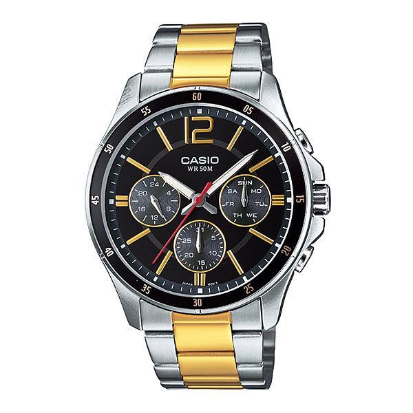 Casio Standard นาฬิกาข้อมือผู้ชาย สีเงิน/ทอง สายสแตนเลส รุ่น MTP-1374SG-1AVDF RLdC