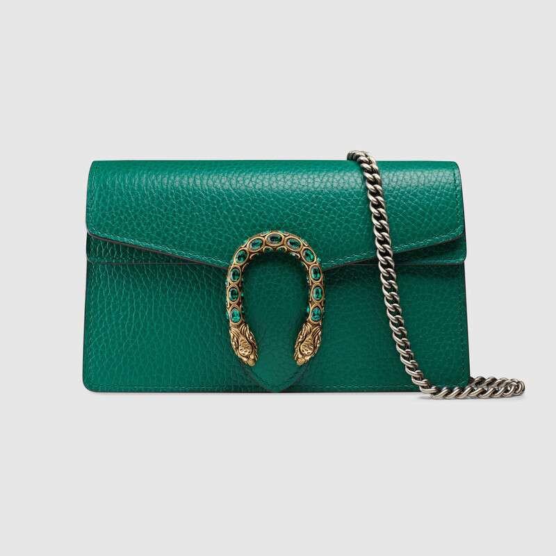 [กระเป๋าสะพาย]Gucci / Dionysus Series Leather Super Mini Handbag / Emerald