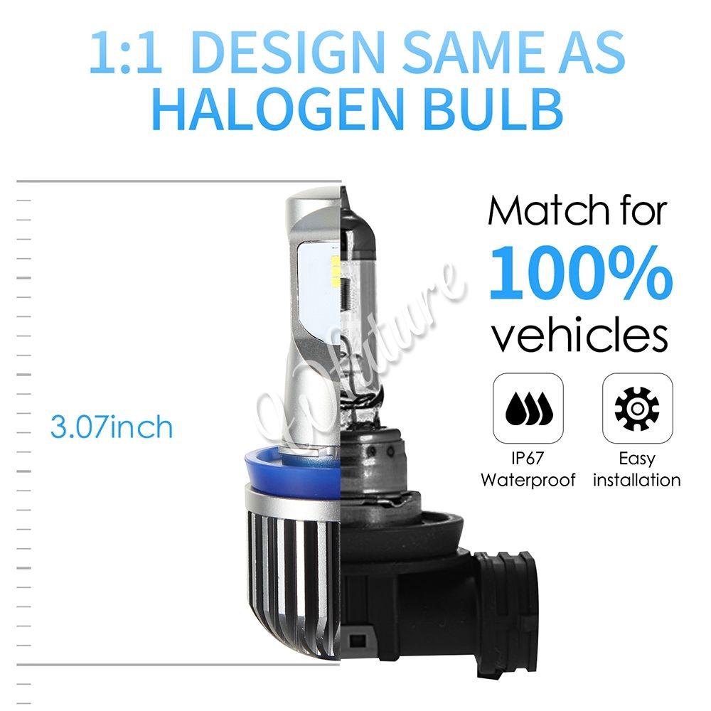 2x H11 Halogen 55W 12V Low-Beam Headlight//Fog//Driving Light Bulbs Xenon White