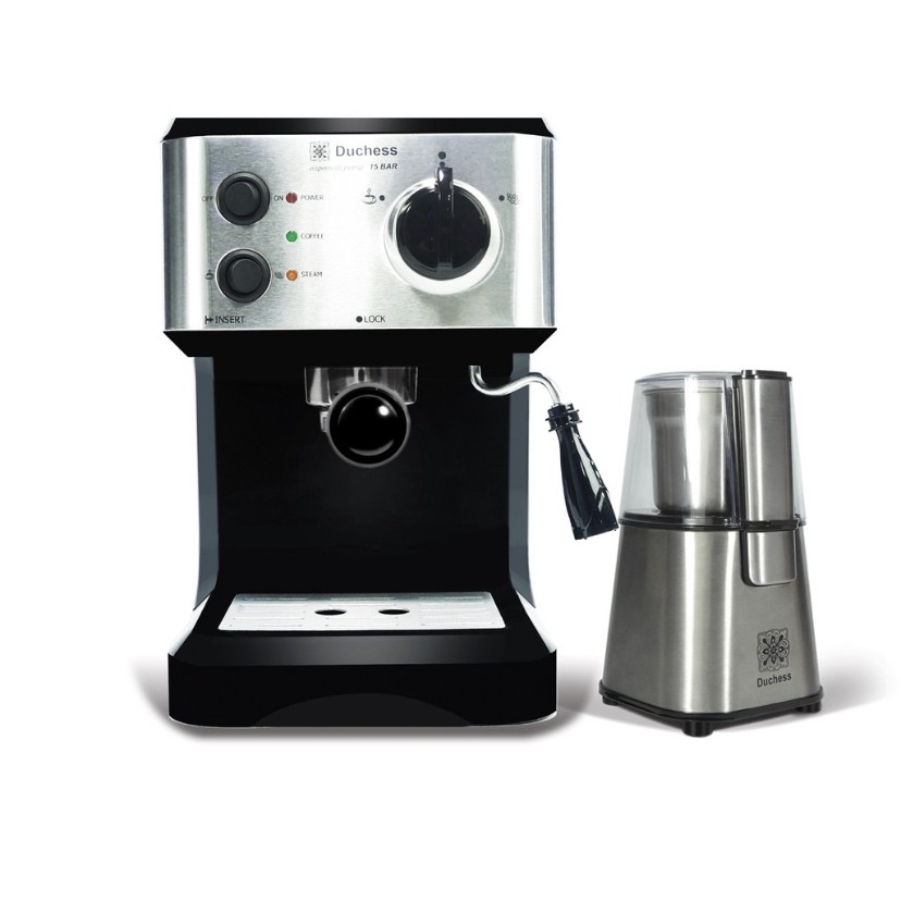 Coffee Machine เครื่องทำกาแฟ เครื่องชงกาแฟ Duchess CM3000B + เครื่องบดเมล็ดกาแฟ CG9100S ฟรี!ก้านชง+ฟิลเตอร์1และ2ช็อต