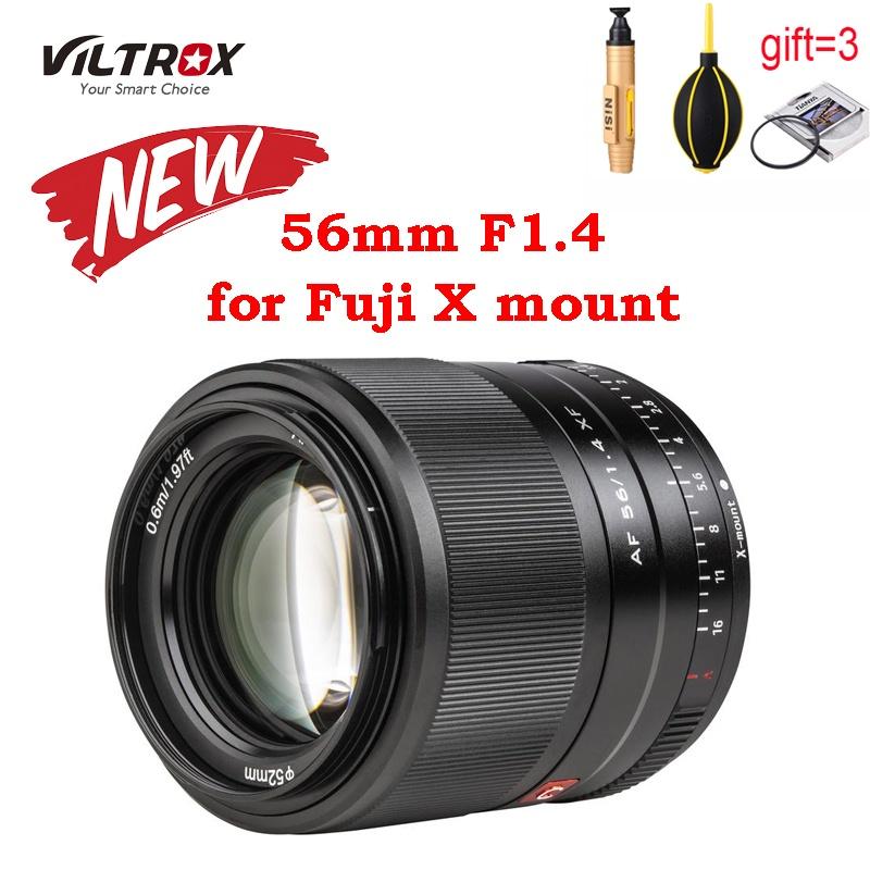 Viltrox 56mm F1.4 silver black Lens XF ASC Large Aerture Autofocus ortrait for Fujifilm X XT30/XT3/XRO3/XT200 XT2 XT4