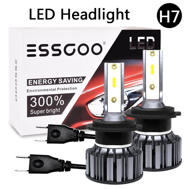 2PCS CREE H7 MINI Car LED Headlight Kits 8000LM Hi-Low Beam Bulbs 6000K White US