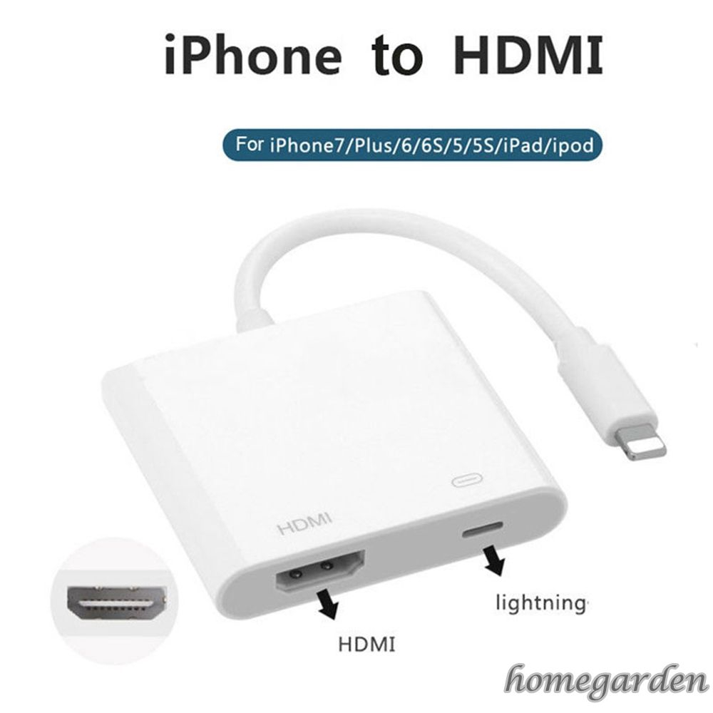 Lightning to HDMI TV AV Adapter 2M Cable For iPad iPhone Xr Xs Xs Max X 7 8 Plus
