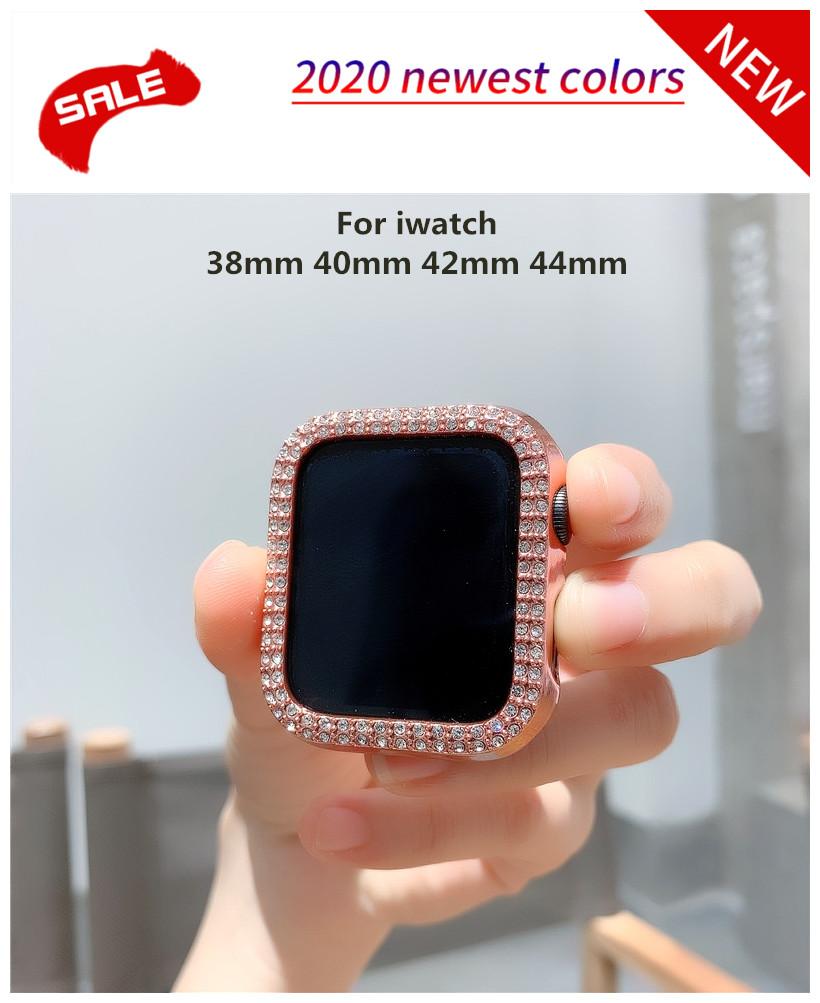 เคสนาฬิกาข้อมือแบบสองแถวสําหรับ Apple Watch Case 38mm 42mm 40mm 44mm Band Pc