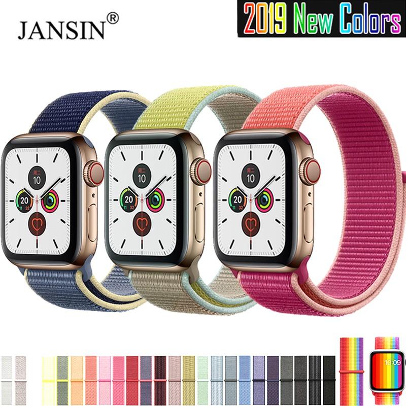 สายคล้องนาฬิกาข้อมือไนล่อนสำหรับ สาย applewatch 40มม 44มม 42มม 38 มม สาย apple watch 6 se 5 4 3 2 1