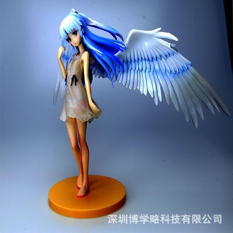 อะนิเมะ รูปอะนิเมะ 18cm Anime AngelBeats!  TachibanaKanade Figure Cake Decoration for Tachibana Kanade PVC Action Figure