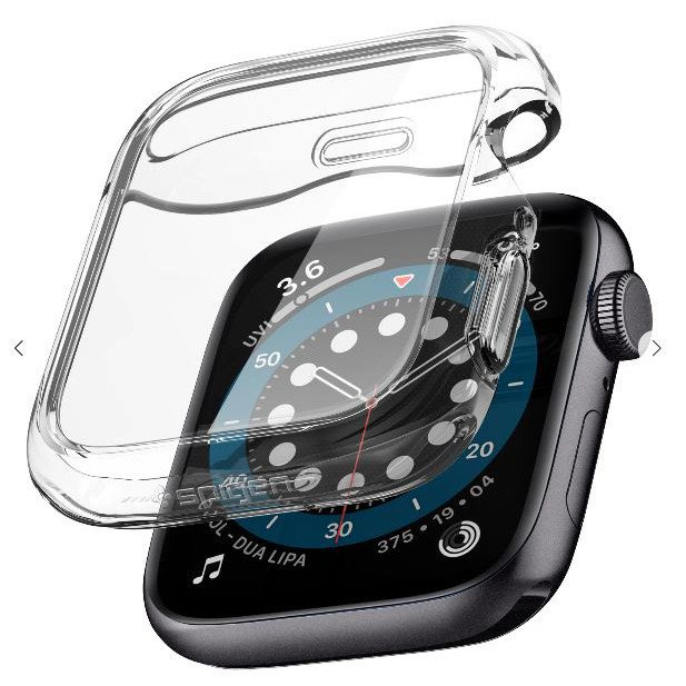 f0p6 ORIGINAL SPIGEN Ultra Hybrid Full Screen Cover Apple Watch Series SE / 6 / 5 / 4 40MM 44MM Case Cover Casing