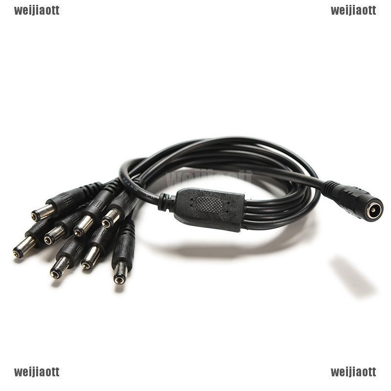 1 x New CCTV Security Camera 2.1mm 1 to 4 Port Power Splitter Cable Pigtail 12V