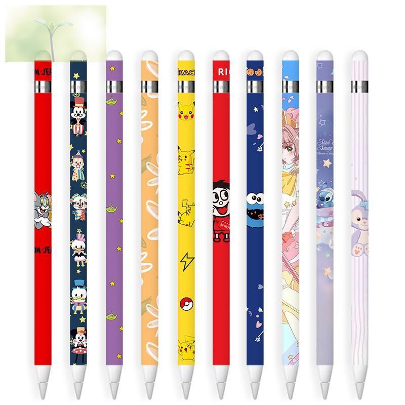 หน้าจอ◕✲☄สติ๊กเกอร์ Sticker Apple pencil รุ่น 1 ลาย 1-20 ลายน่ารักๆ ลอกออกไม่ทิ้งคราบ