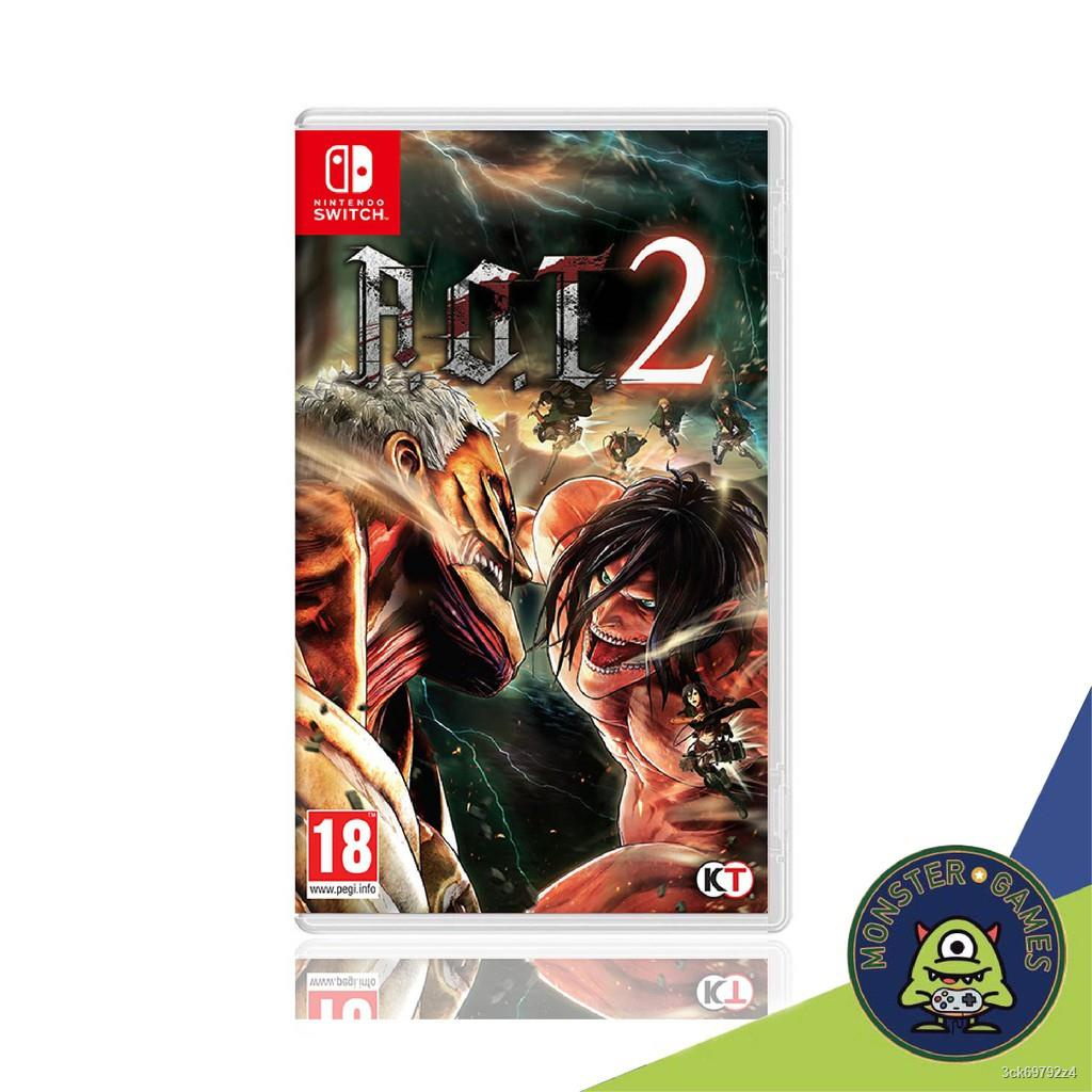 ☫♀Attack on Titan 2 (AOT 2) Nintendo Switch game (เกมส์ Nintendo Switch)(ตลับเกมส์Switch)(แผ่นเกมSwitch)(A.O.T. 2 switch