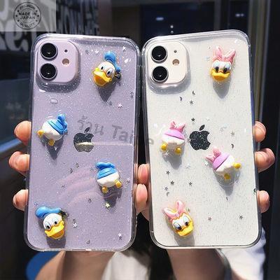 เคสไอโฟน 12 case iphone12 case iPhone 12 Pro /case iPhone 12 Pro Maxการ์ตูนสามมิติโดนัลด์ดั๊ก 12promax Apple 11 เคสมือถื