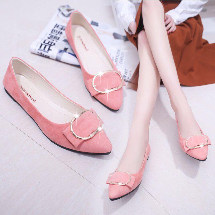 💗ผู้หญิงรองเท้าแตะ รอง เท้าส้นแบนหัวแหลม รองเท้าแฟชั่น รองเท้าคัชชู ส้นเตี้ย รองเท้าแตะ รองเท้าคัชชู ส้นเตี้ย ใส่สบาย