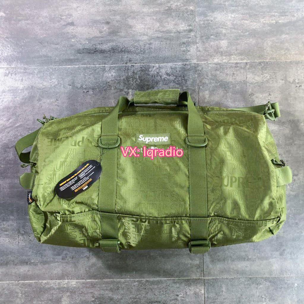 Supreme 19SS 46TH Duffle Bag กระเป๋าเดินทาง กระเป๋ากีฬา กระเป๋าเดินทาง Duffle bag กระเป๋าเดินทางแบบถือ  กระเป๋าใส่เสื้อผ้า