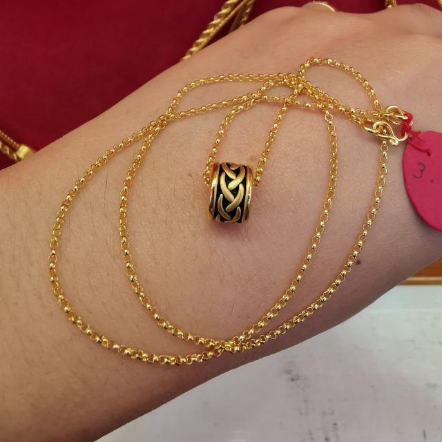 สร้อยคอทองแท้ 96.5%  น้ำหนัก 1 สลึง ยาว 22.5cm  ราคา  8,200บาท